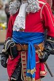 Предпосылка средневековые одежды солдат Стоковые Фото