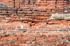Предпосылка старой текстуры кирпичной стены Стоковое Изображение