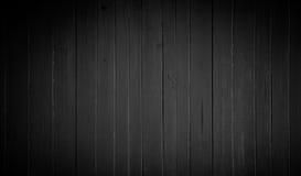 Предпосылка старой текстуры древесины темной черноты Стоковые Изображения