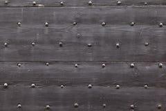 Предпосылка: старый деревянный стиль средневековая Европа Франция двери Стоковые Изображения