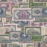 Предпосылка старых денег Стоковая Фотография