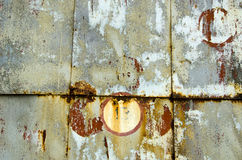 Предпосылка старых и grunge металла покрашенная оловом стоковые фотографии rf