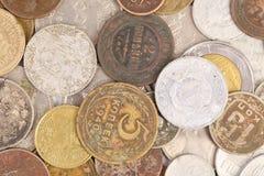 Предпосылка старых монеток. Конец вверх. Стоковое Изображение