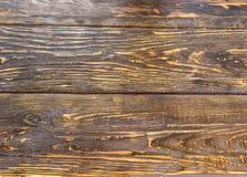 Предпосылка старых темных деревянных планок Стоковая Фотография RF