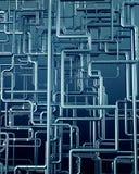 Предпосылка стальной трубы медного штейна Стоковые Фото