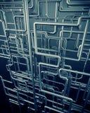 Предпосылка стальной трубы медного штейна Стоковая Фотография