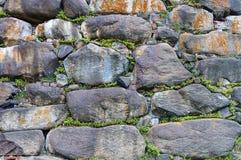 Предпосылка стены больших валунов Стоковое Фото
