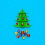 Предпосылка стены рождественской елки Стоковая Фотография