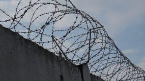 Предпосылка стены тюрьмы Стоковое Фото