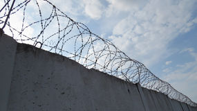 Предпосылка стены тюрьмы Стоковая Фотография
