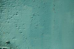 Предпосылка стены цвета Teal грубая текстурированная покрашенная Стоковая Фотография