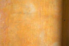 Предпосылка стены цемента светлооранжевая Стоковые Изображения RF