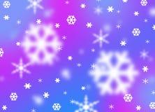 Предпосылка стиля влияния снежинки зимы Стоковое Фото