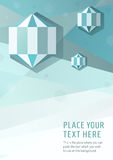 Предпосылка стиля голубого вектора геометрическая графическая с диамантами шестиугольника Стоковые Изображения RF