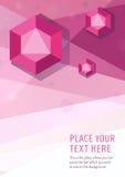 Предпосылка стиля голубого вектора геометрическая графическая с диамантами шестиугольника Стоковая Фотография