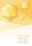 Предпосылка стиля желтого вектора геометрическая графическая с диамантами шестиугольника Стоковая Фотография RF