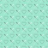 Предпосылка стиля дня валентинки St винтажная Стоковые Фотографии RF