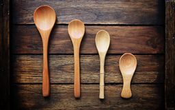 Предпосылка стиля ложки деревянная тайская Стоковое Изображение RF