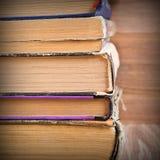 Предпосылка страниц старых книг Стоковая Фотография