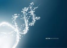 Предпосылка структуры молекулы дна Стоковая Фотография