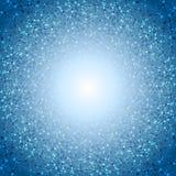 Предпосылка структуры дна абстрактной сини молекулярная круглая Стоковые Изображения RF