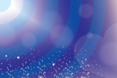 Предпосылка сцинтилляции сердца голубая Стоковое Фото