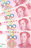 Предпосылка 100 счетов юаней Стоковые Фото