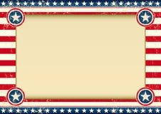 Предпосылка США горизонтальная Стоковые Изображения