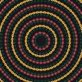 Предпосылка с абстрактной картиной цветков круга Стоковая Фотография RF