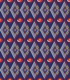 Предпосылка с абстрактными косоугольником и цветками Стоковые Фото
