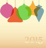 Предпосылка с абстрактными шариками рождества Стоковое Изображение