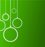 Предпосылка с абстрактными шариками рождества Стоковая Фотография RF