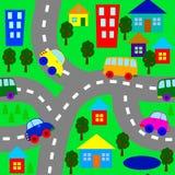 Предпосылка с автомобилями Стоковое Фото