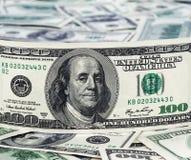 Предпосылка с американцем денег 100 долларов Стоковое Изображение