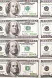 Предпосылка с американцем денег 100 долларов Стоковая Фотография RF