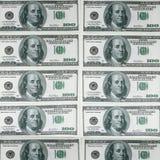 Предпосылка с американцем денег 100 долларов Стоковые Изображения
