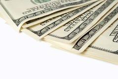 Предпосылка с американцом денег 100 счетов доллара Стоковые Фотографии RF