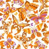Предпосылка с бабочками Стоковое Изображение