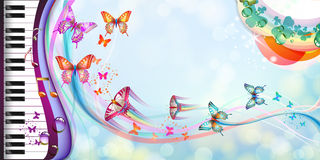 Предпосылка с бабочками Стоковые Изображения