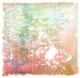 предпосылка с бабочкой и цветками Стоковые Изображения
