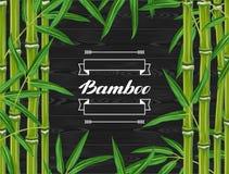 Предпосылка с бамбуковыми заводами и листьями Стоковые Изображения