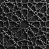 Предпосылка с безшовной картиной 3d в исламском стиле Стоковые Изображения RF