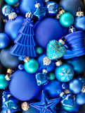 Предпосылка с безделушками рождества Стоковые Изображения RF