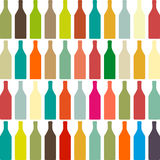 Предпосылка с бутылками Иллюстрация вектора