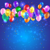Предпосылка с воздушными шарами цвета Иллюстрация штока