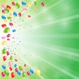 Предпосылка с воздушными шарами Бесплатная Иллюстрация