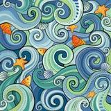 Предпосылка с волнами Стоковая Фотография