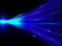 Предпосылка с голубой энергией выравнивает сходиться в центре на черноте иллюстрация штока