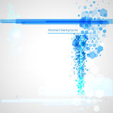 Предпосылка с голубыми абстрактными элементами Бесплатная Иллюстрация