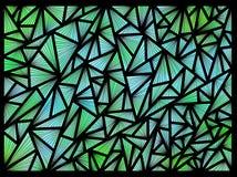 Предпосылка сделанная треугольников на черной предпосылке Стоковое фото RF